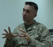 This Interview With First Lieutenant Josh Rushing US Marines A Spokesman And Public Information Officer At Coalition Central Command Centcom